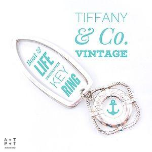 Tiffany & Co. Boat Key Ring & Lifesaver Charm